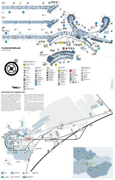 Carte de l'aéroport de Vienne
