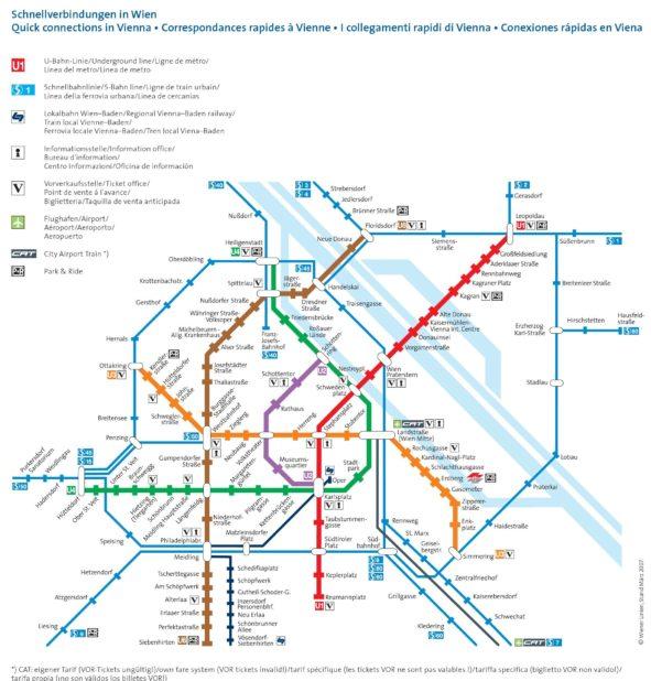Carte du métro de Vienne