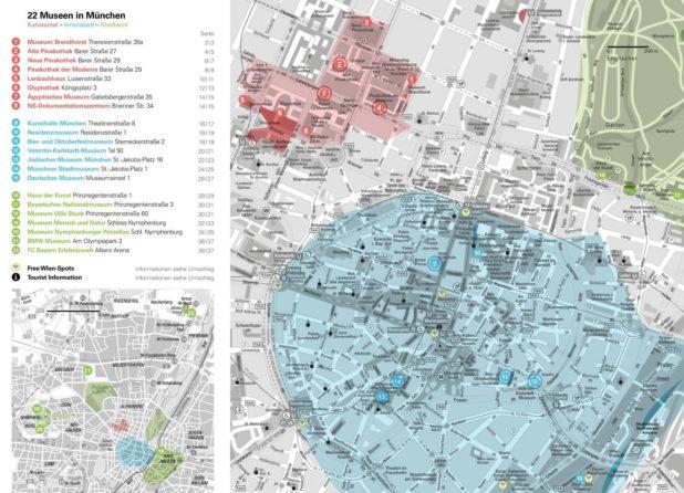Carte des musées de Munich