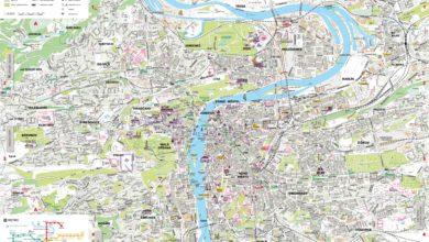 Carte de Prague en République tchèque