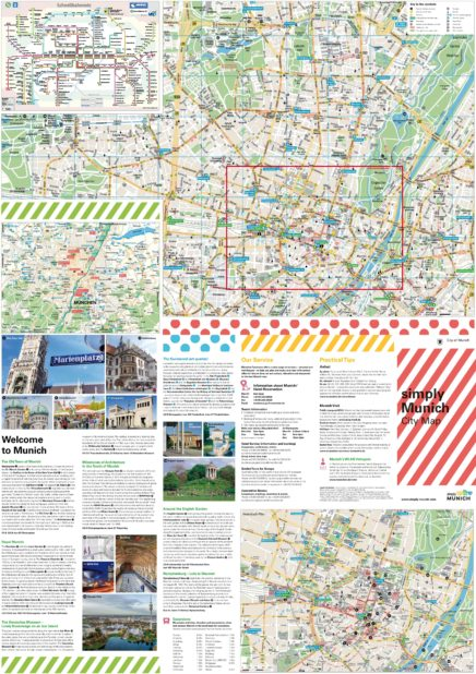 Carte touristique de Munich