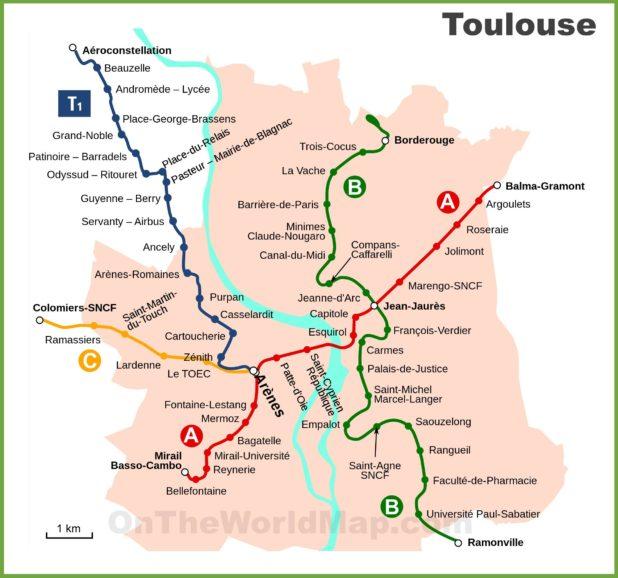 Carte de Toulouse - Plusieurs de cartes de la ville rose
