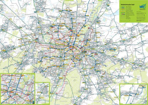 Carte des transports de Munich