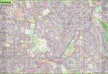 Carte de Vienne en Autriche