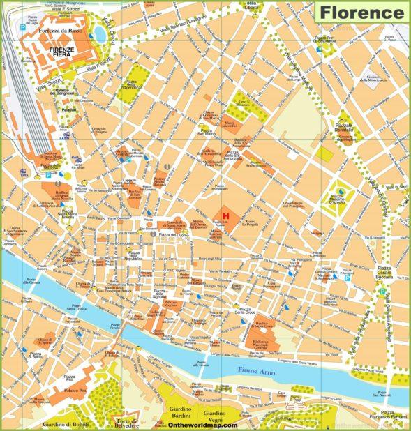 Autre carte de Florence