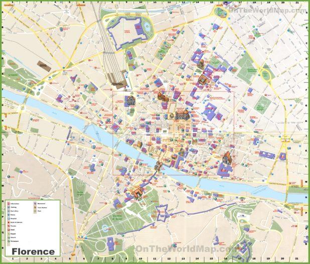 Carte du tourisme à Florence