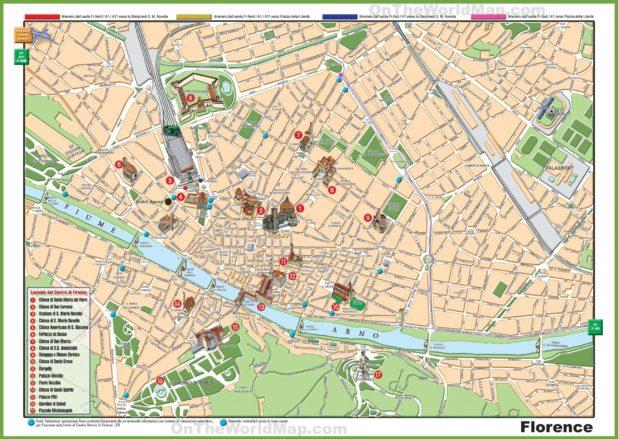 Carte de la ville de Florence