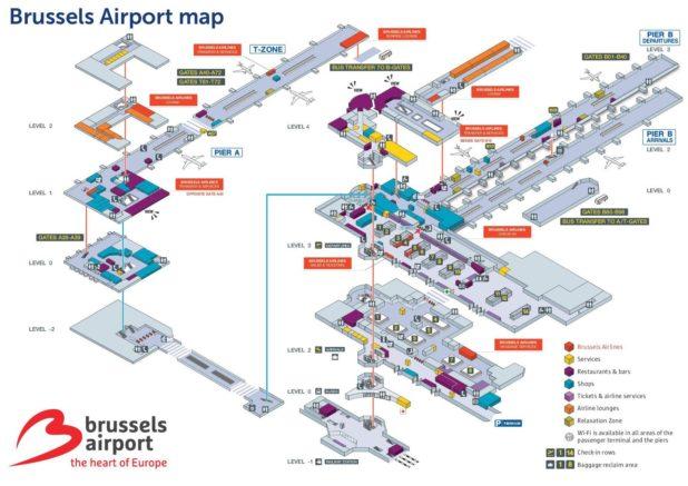 Carte de l'aéroport de Bruxelles
