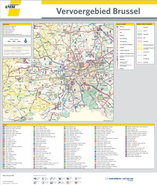 Carte des bus à Bruxelles
