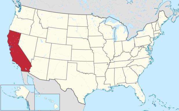 Carte de la Californie aux Etats-Unis