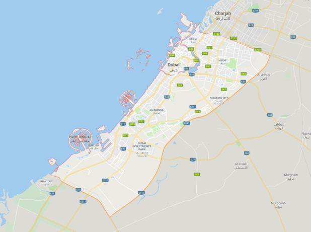 Carte de Dubaï