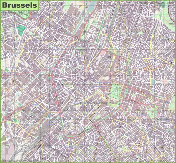 Carte large de Bruxelles