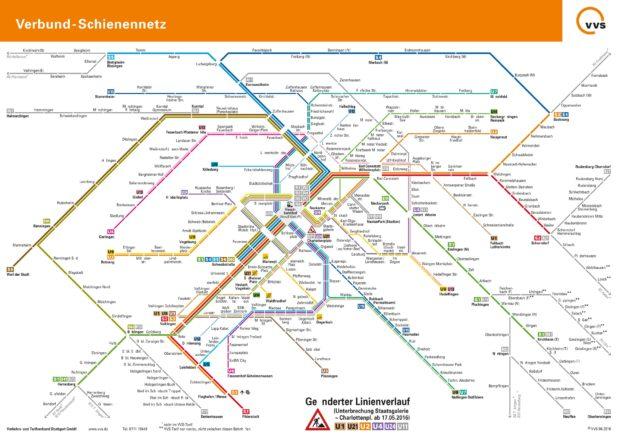 Carte du métro de Stuttgart