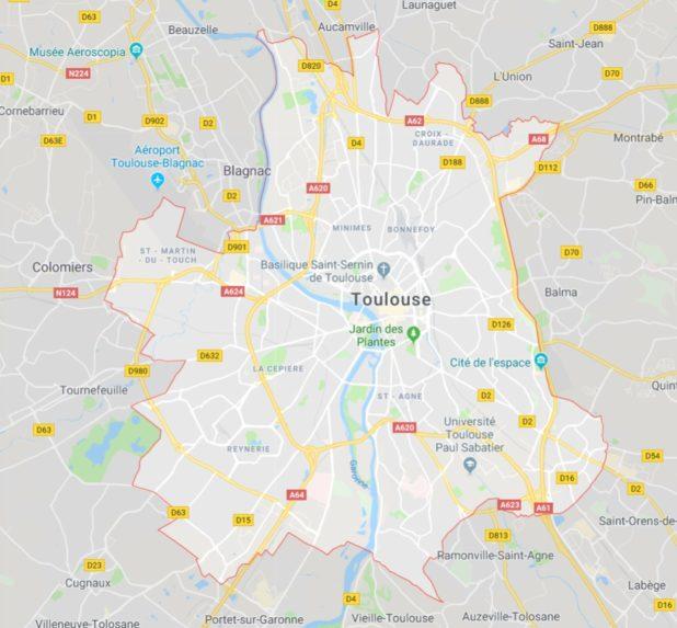 Carte de Toulouse