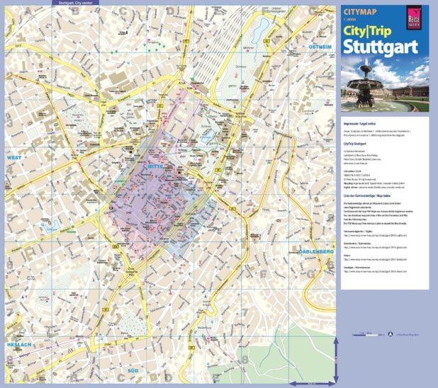 Carte du tourisme à Stuttgart
