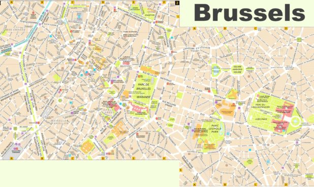 Carte touristique de Bruxelles