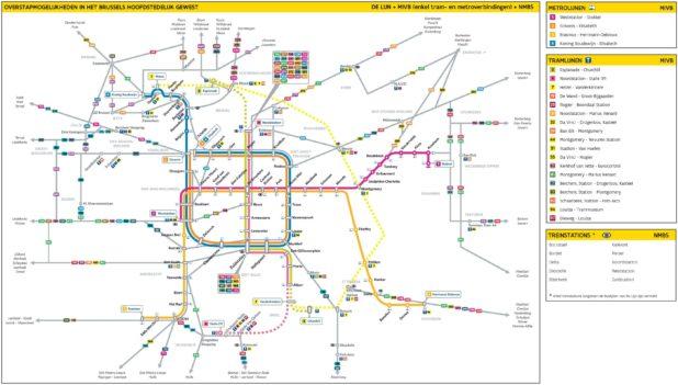 Carte du Tram à Bruxelles