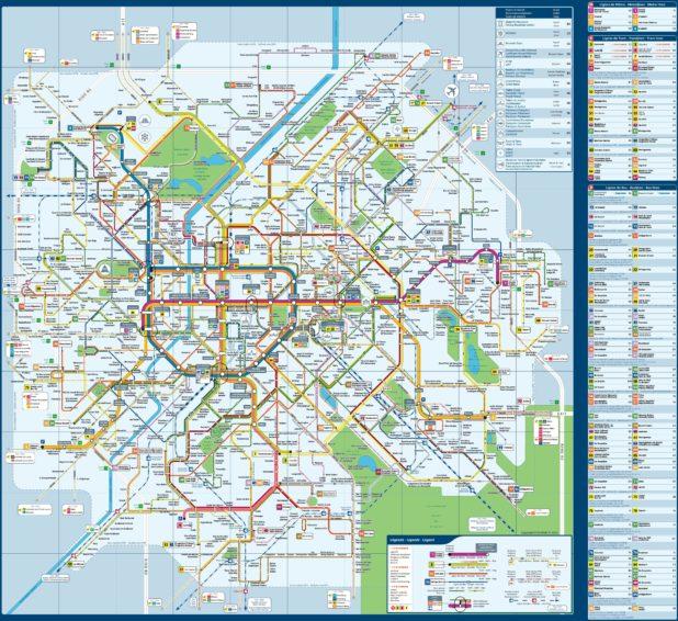 Carte des transports à Bruxelles