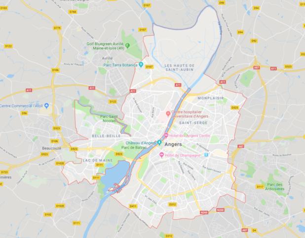 Carte d'Angers