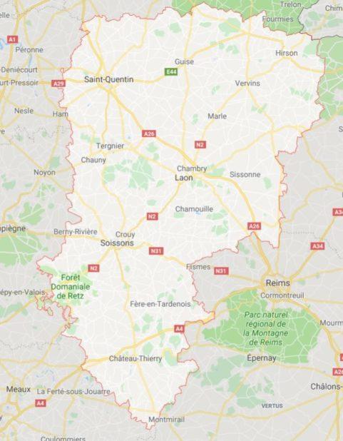 Autre carte de l'Aisne
