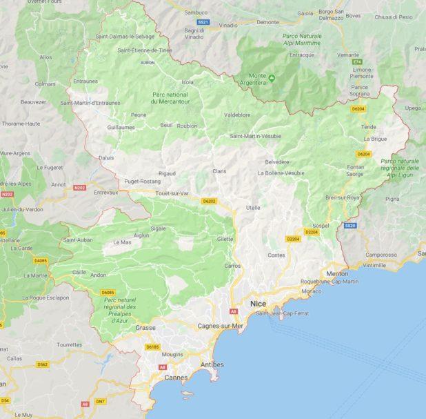 Alpes Maritime carte