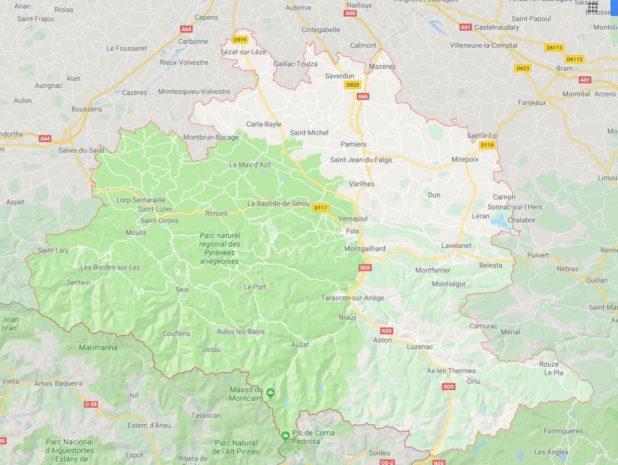 Autre carte de l'Ariège