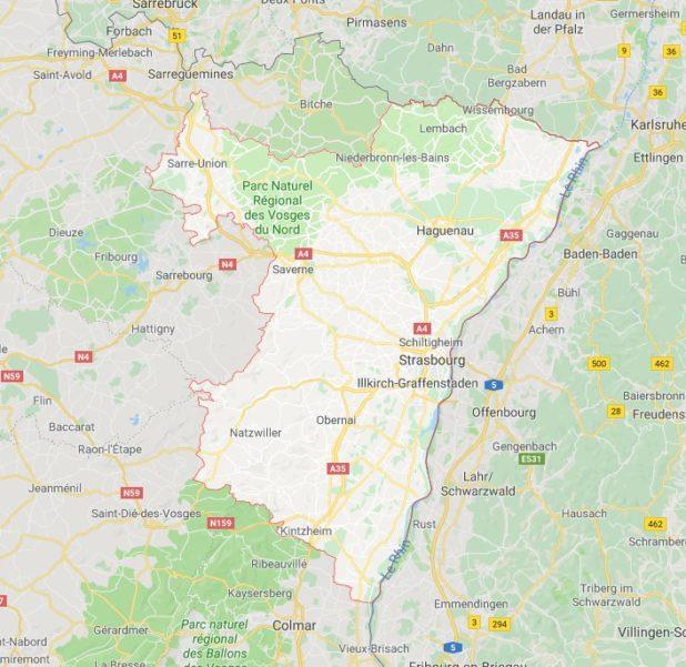 Bas-Rhin carte