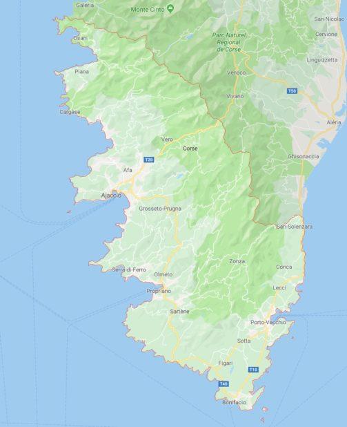 Corse-du-Sud carte