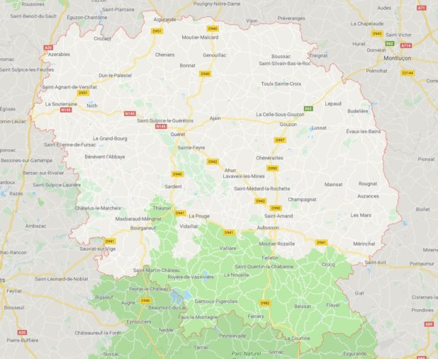 Creuse carte