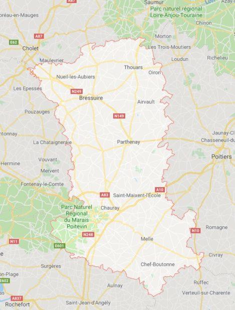 Deux-Sèvres carte