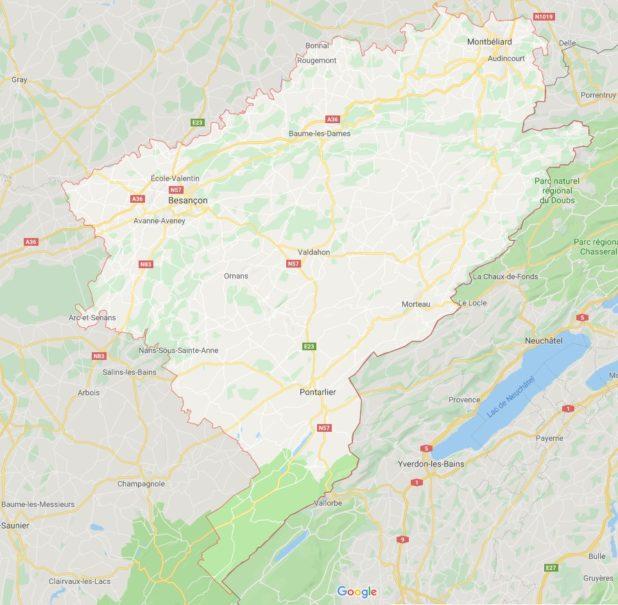 Doubs carte