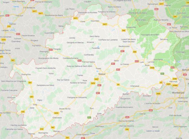 Haute-Saône carte