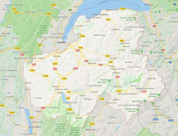 Haute-Savoie carte