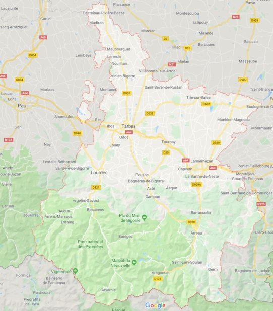 Hautes-Pyrénées carte