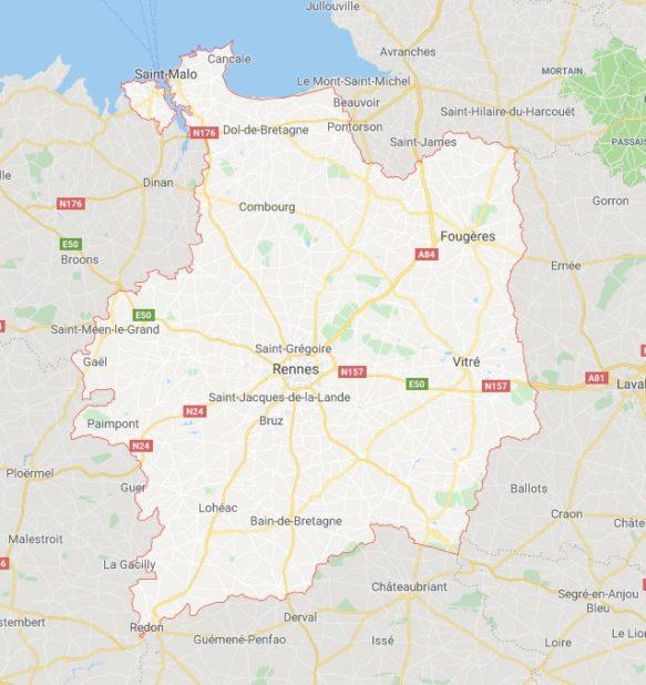 Ille-et-Vilaine carte