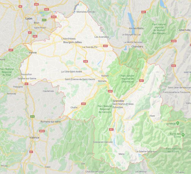 Isère carte