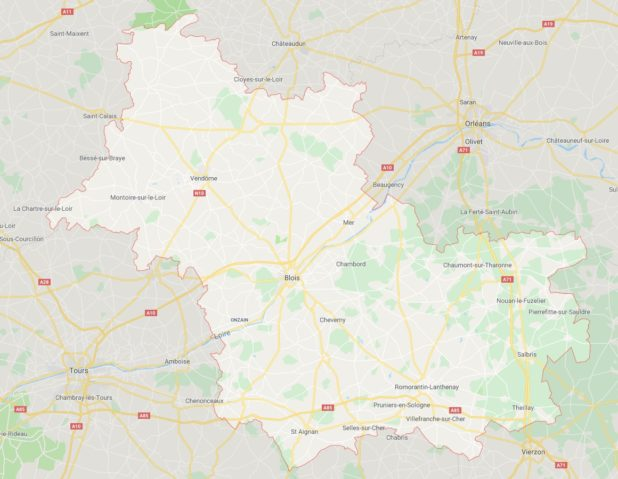 Loir-et-Cher carte