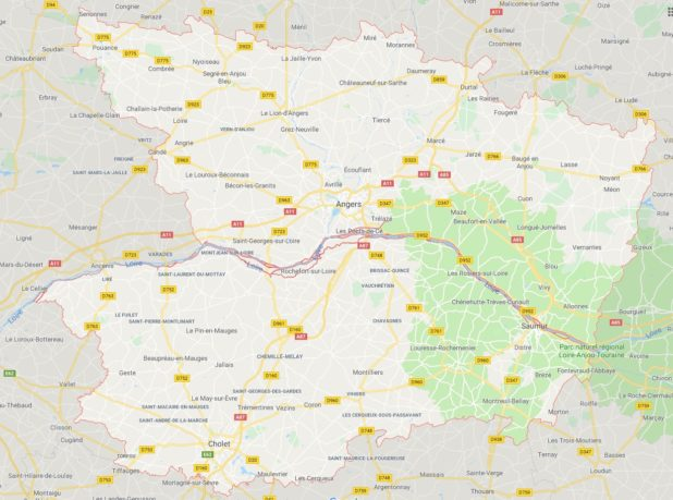 Maine-et-Loire carte