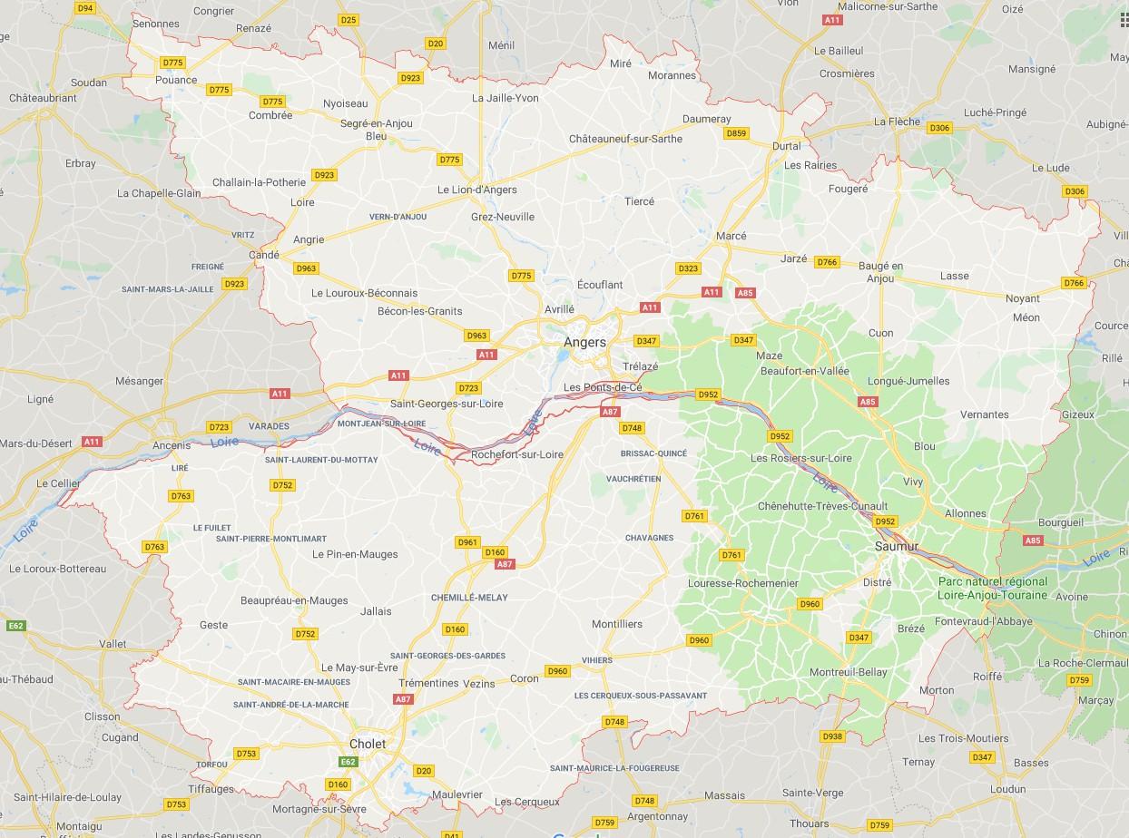 Carte Du Maine Et Loire Maine Et Loire Carte Des Villes