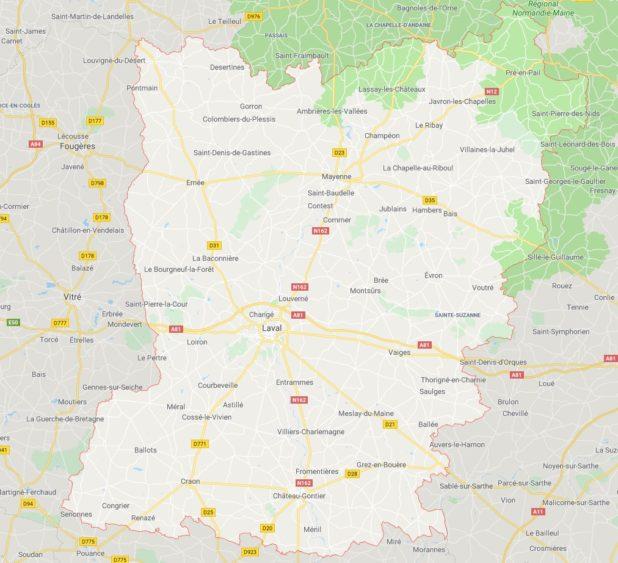 Mayenne carte