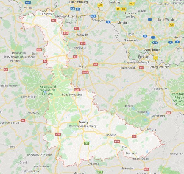 Meurthe-et-Moselle carte
