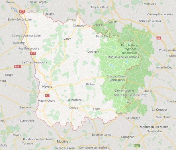 Nièvre carte