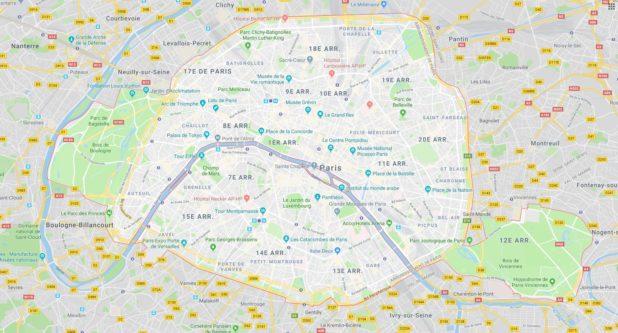 Paris carte
