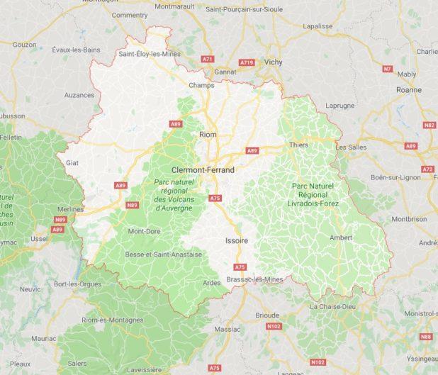 Puy-de-Dôme carte