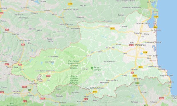 Carte des villes des Pyrénées-Orientales