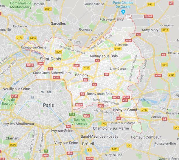 Seine-Saint-Denis carte