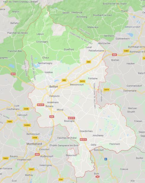 Territoire de Belfort carte