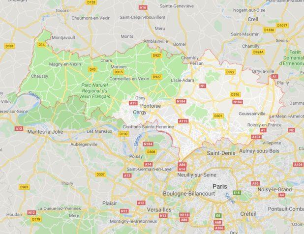 Val d'Oise carte