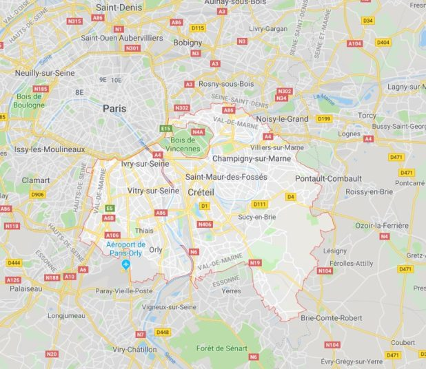 Val-de-Marne carte