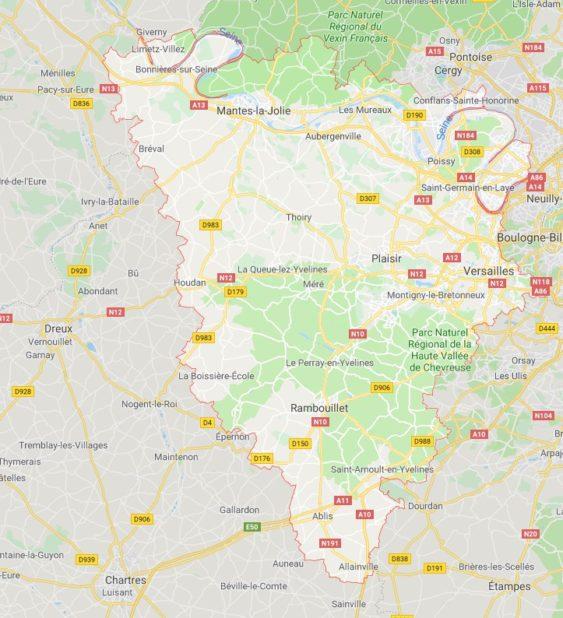 Yvelines carte